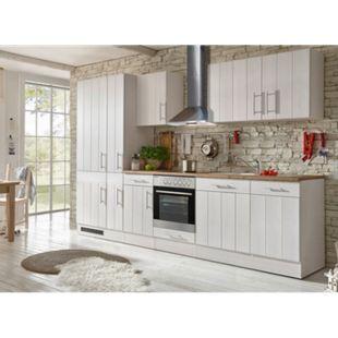Respekta Premium Küchenzeile BERP310LHWC 310 cm Weiß-Lärche Nachbildung - Bild 1