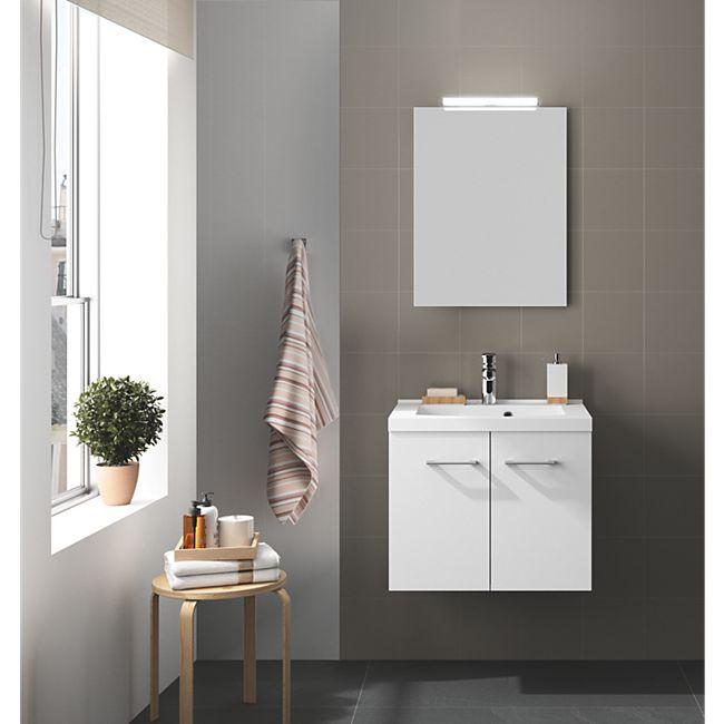Badmöbel-Set Allibert 60 cm weiß glänzend - Bild 1