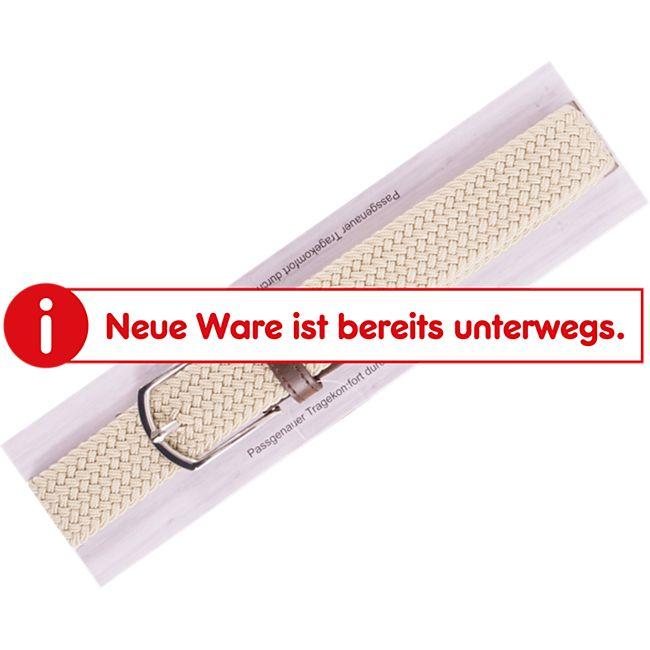 Herren Herren Stretchgürtel - Gr. 105 cm, beige - Bild 1