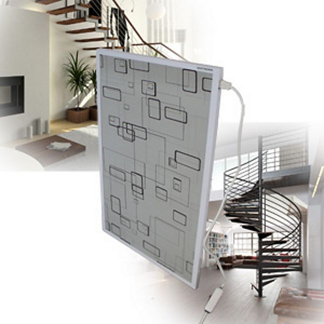 Mauk Infrarot Heizkörper, Modern Box Grey - Bild 1