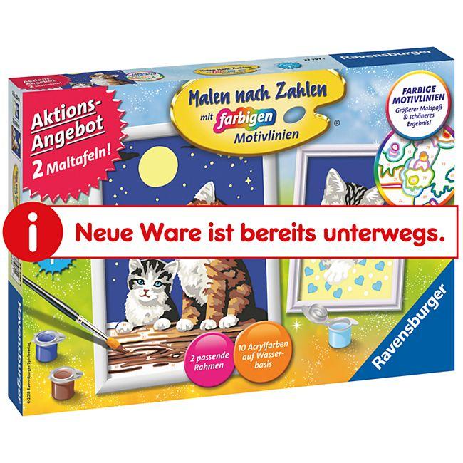 Ravensburger Malen nach Zahlen, 2er Set - Katzen - Bild 1