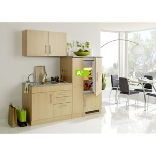 HELD Möbel Single-Küche Dallas 190 cm - Melamin Buche Nachbildung - Bild 1