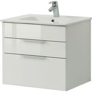 HELD Möbel Ravello Waschtisch 60 cm - Hochglanz weiß - Bild 1