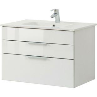 HELD Möbel Ravello Waschtisch 80 cm - Hochglanz weiß - Bild 1