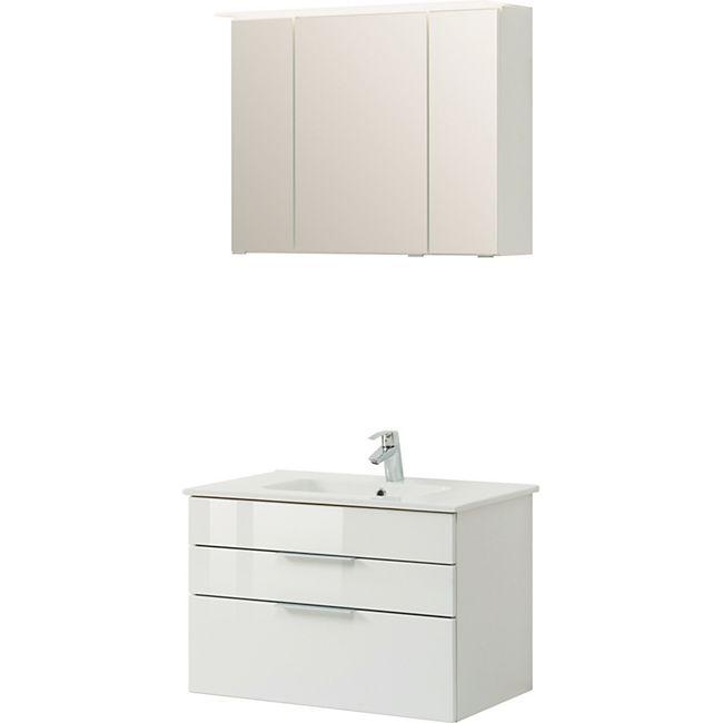 HELD Möbel Ravello Waschtisch-Set 80 cm - Hochglanz weiß - Bild 1