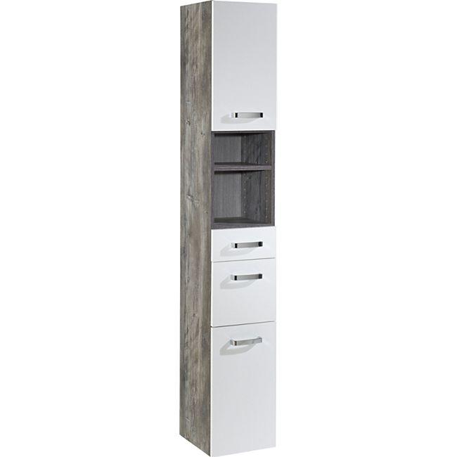 HELD Möbel Capri Seitenschrank 30 cm - Eiche vintage Nachbildung / Weiß - Bild 1
