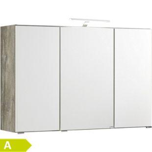 HELD Möbel Capri 3D-Spiegelschrank 100 cm - Eiche vintage Nachbildung - Bild 1