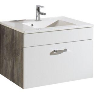 HELD Möbel Capri Waschtisch 80 cm - Eiche vintage Nachbildung / Weiß - Bild 1