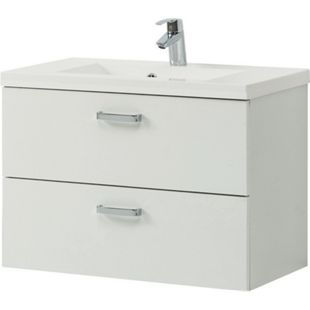 HELD Möbel Montreal Waschtisch 80 cm - Melamin Weiß - Bild 1