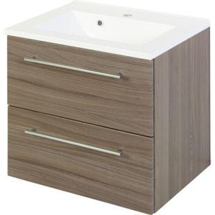 HELD Möbel Mailand Waschtisch 60 cm - Eiche dunkel Nachbildung - Bild 1
