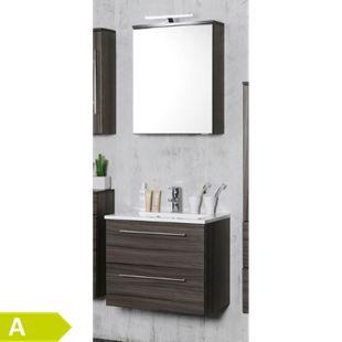 HELD Möbel Mailand Waschtisch-Set 60 cm - Eiche dunkel Nachbildung - Bild 1