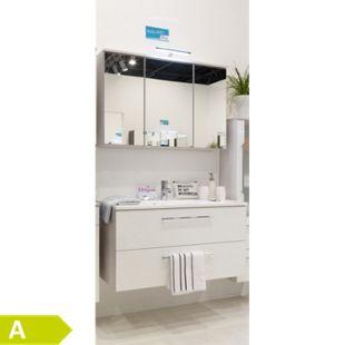 HELD Möbel Mailand Waschtisch-Set 100 cm - Hochglanz Weiß - Bild 1