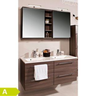 HELD Möbel Mailand Waschtisch-Set 120 cm - Eiche dunkel Nachbildung - Bild 1