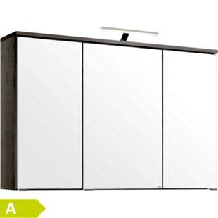 HELD Möbel Mailand 3D-Spiegelschrank 100 cm - Eiche dunkel Nachbildung - Bild 1