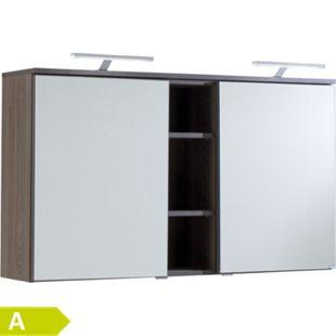 HELD Möbel Mailand Spiegelschrank 120 cm - Eiche dunkel Nachbildung - Bild 1