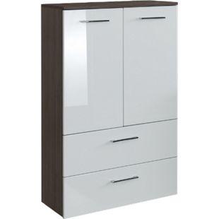 HELD Möbel Marinello Midischrank 70 cm - Hochglanz Weiß - Bild 1