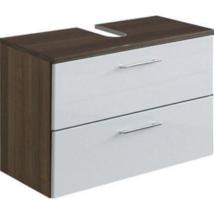 HELD Möbel Marinello Unterbeckenschrank K/A 70 cm - Hochglanz Weiß - Bild 1