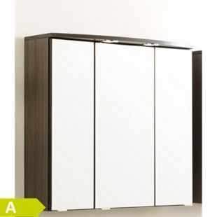 HELD Möbel Marinello 3D-Bog-Spiegel 70 cm - Hochglanz Weiß - Bild 1