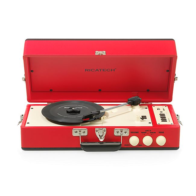 Ricatech RTT98 Vintage Plattenspieler rot - Bild 1