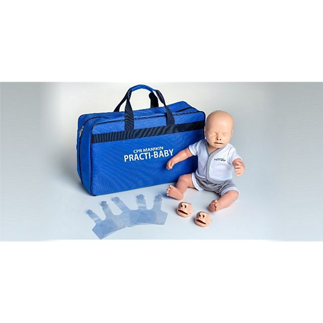 MedX5 Practi-Baby HLW-Übungspuppe mit Tragetasche - Bild 1