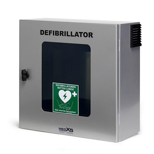MedX5 Defibrillator (AED) Außen-Wandkasten mit Alarm, Belüftung und Heizung - Bild 1