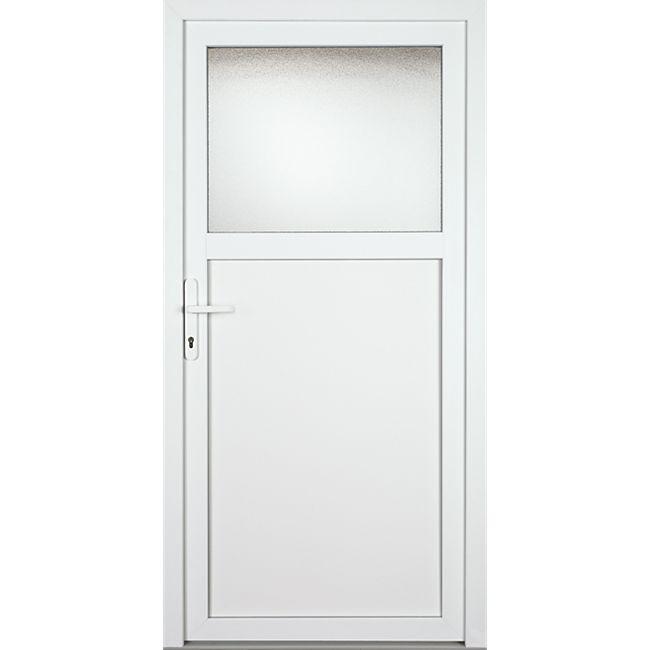 KM Meeth Sicherheits-Nebeneingangstür Modell KA701 S2-2 DIN links, weiß - Bild 1