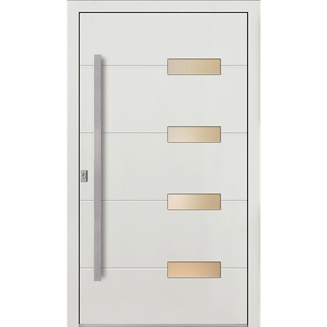 KM Meeth Sicherheits-Aluminium-Haustür Model A813 S4 DIN links, weiß - Bild 1