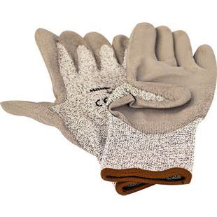 "MAUK (12 Paar) Schnittschutz Handschuhe Grau ""Cut Resistant Glove"" EN388 Schnittstufe 5 Größe 10"" HPPE PU beschichtet - Bild 1"
