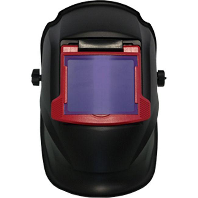 MAUK Profi Kopfschweißschild mit Klappvisier Schwarz Rot Manuell-FORCE-200G - Bild 1
