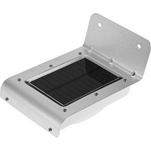 Mauk Solar Beleuchtungs - Bewegungsmelder zur Wandmontage in Edelstahl 13,2x9,2x7,6 cm - Bild 1