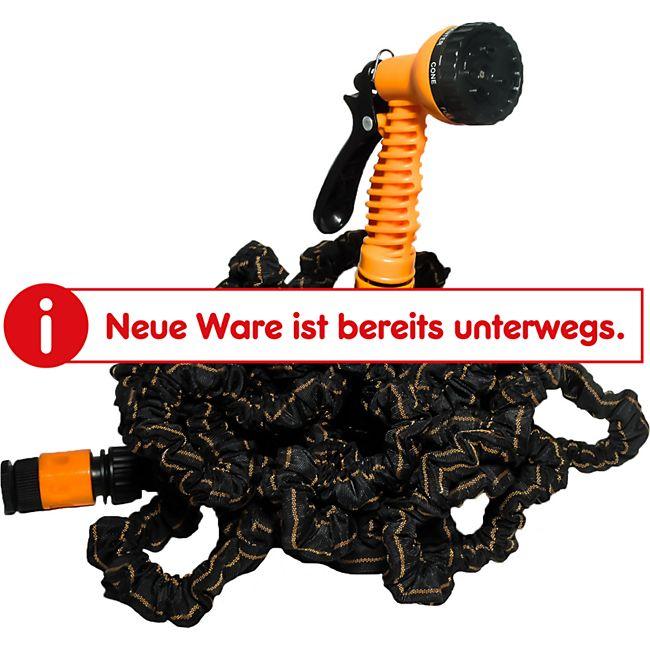 EASYmaxx Gartenschlauch flexibel 30m schwarz/orange mit Multi-Gartenbrause - Bild 1