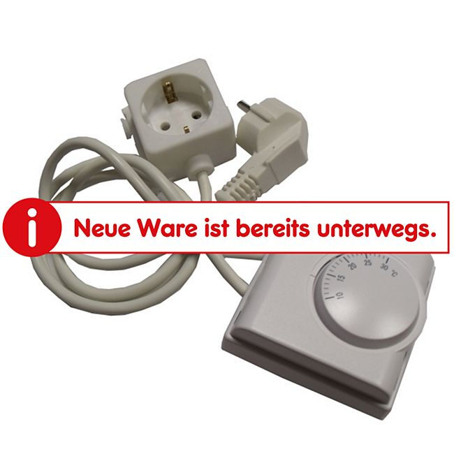 Mauk Kabel mit Thermostat und Steckdose Infrarot Heizkörper - Bild 1