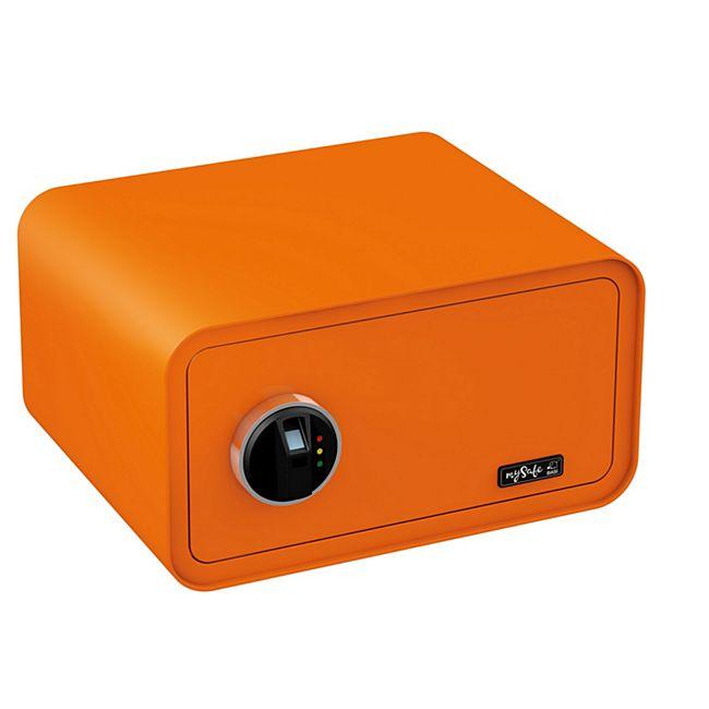 BASI Elektronik-Möbel-Tresor mySafe 430 Fingerprint, orange - Bild 1