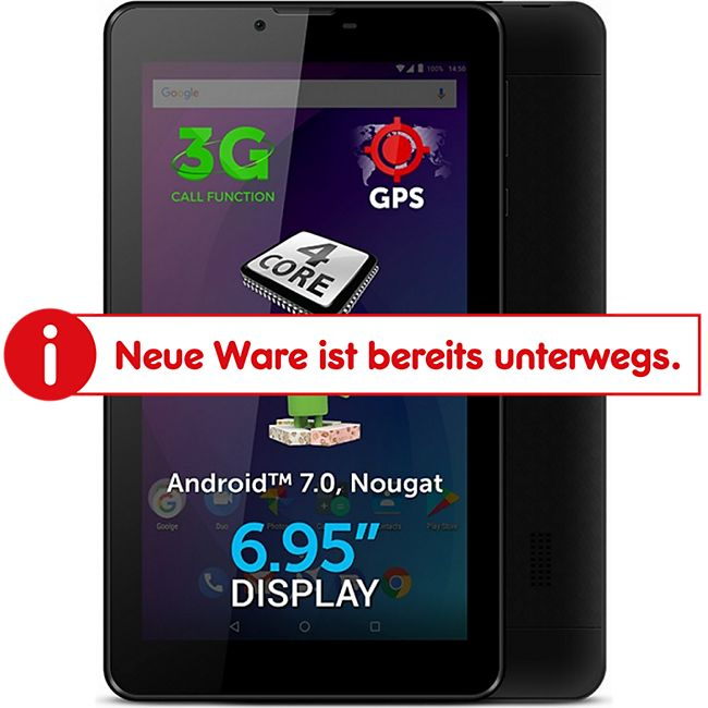 Allview Ax502 Tablet PC 6,95 Zoll 3G WLAN 1GB QuadCore Android 7.0 - Bild 1