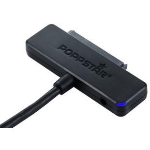 Poppstar USB 3.1 Gen. 2 Typ-C  S-ATA Adapter für 2,5 und 3,5 Zoll Festplatten, ohne Netzteil - Bild 1