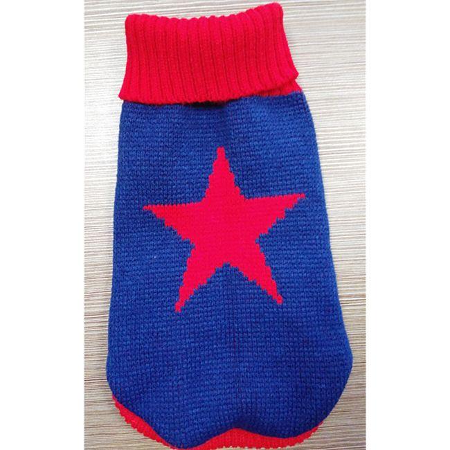 """heim Hundepullover """"Star"""" Größe: 45, blau/rot - Bild 1"""