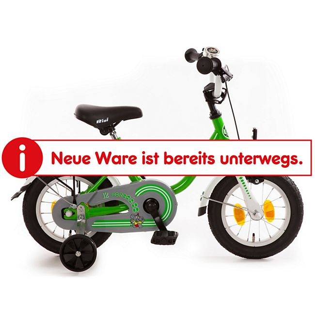 "Bachtenkirch Kinderfahrrad ""BiBi"" grün/weiß 12,5"" - Bild 1"
