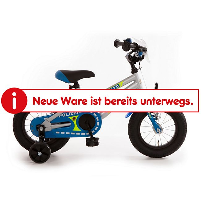 "Bachtenkirch Kinderfahrrad Kuma ""POLIZEI"" blau/silber/neon 12,5"" - Bild 1"