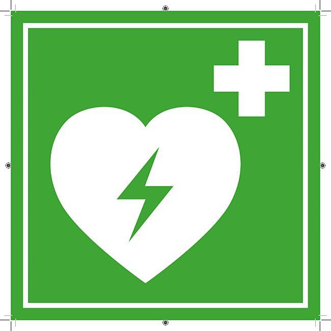 SAVER ONE AED - Hinweisschild Defibrillator - Aufkleber - Bild 1