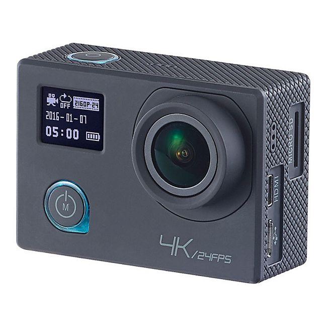 Somikon 4K-Action-Cam UHD 2 Displays 16-MP-Sony-Sensor - Bild 1