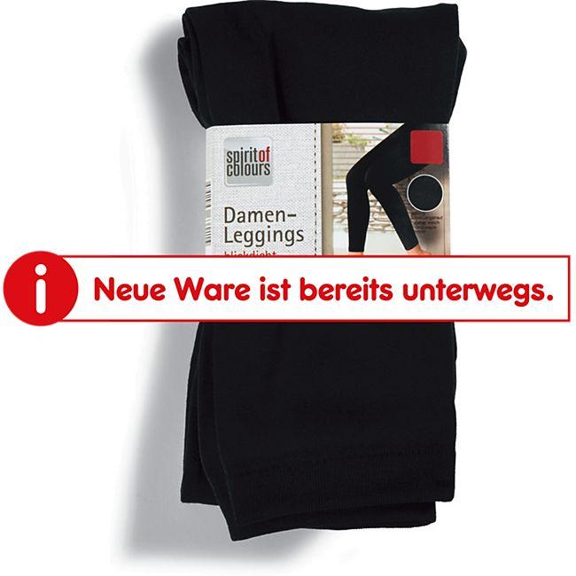 Spirit of Colours Damen Leggings - Schwarz glatt, Gr. S/M - Bild 1