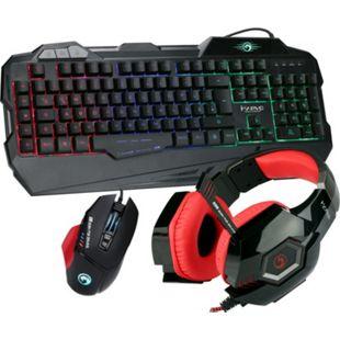 Hyrican Marvo Gaming Set Tastatur KG745 + Maus+ Headset