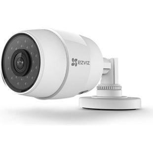 EZVIZ C3C IP Kamera Kompatibel mit Amazon Alexa, 720P HD, Brennweite 2.8mm, WLAN 2.4GHz, Outdoor, Wetterfest, mit SD-Karten Steckplatz, Nachtsicht, Weiß - Bild 1