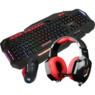 Hyrican Marvo Gaming Set Tastatur KG760+ Maus G981+ Headset HG9016