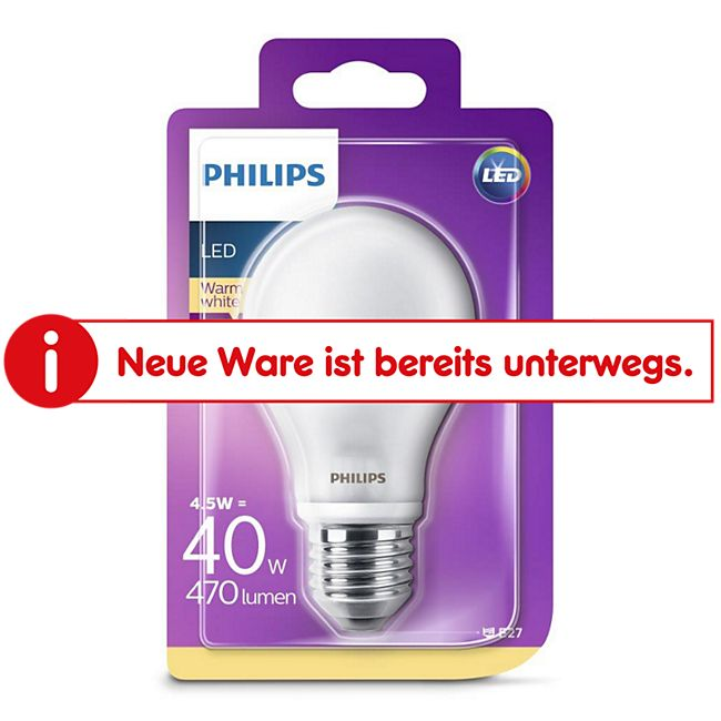 PHILIPS LED Leuchtmittel - Birne 40W A60 E27 - Bild 1