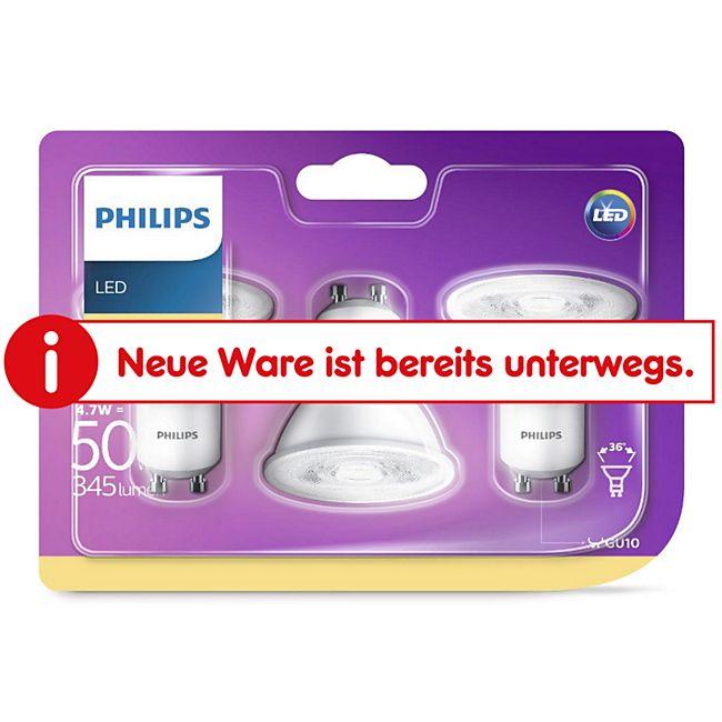 PHILIPS LED Leuchtmittel -Reflektor GU10 50W, 3er Pack - Bild 1