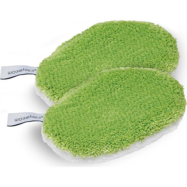 Waschies Baby-Pads 2er-Set 15x10,5cm grün/weiß - Bild 1
