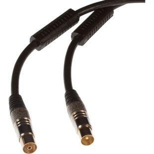 Poppstar 1x Antennenkabel, Stecker gerade (m/w), vergoldete Kontakte, 5m - Bild 1