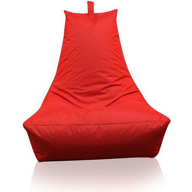 KINZLER Sitzsack Lounge-Sessel, rot (Outdoorfähig) - Bild 1