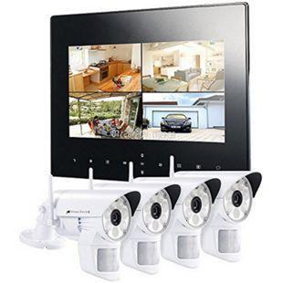 VisorTech DSC-720.mc Funk Überwachungs-Set mit 4 LED-HD-Kameras + Monitor - Bild 1